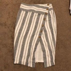 Green striped urban outfitters skirt